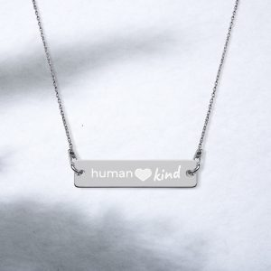 engraved- Human Kind Bar Necklace by SD HUMANkind-bar-chain-necklace-black-rhodium-coating-womens-2-60108310ab64e.jpg