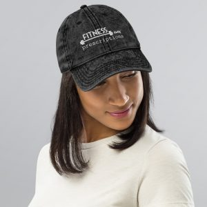 Fitness Over Prescriptions Vintage Hat by SD HUMANkind